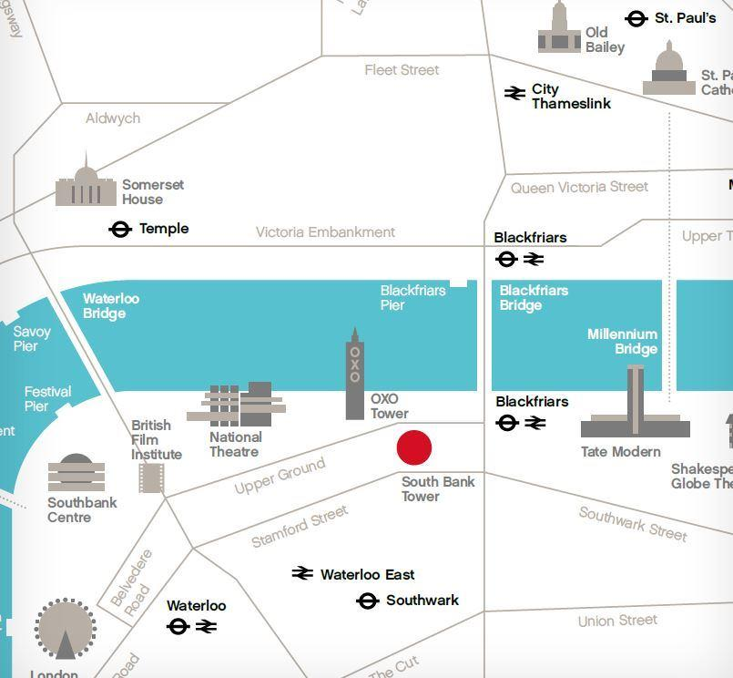 South Bank Tower map