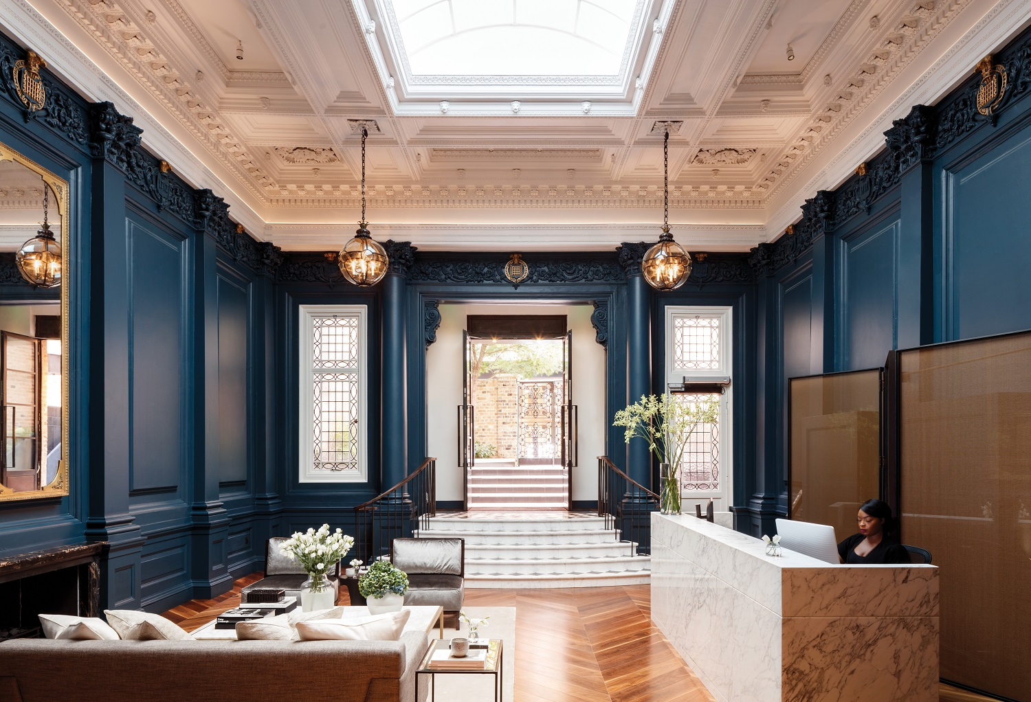 Stunning entrance hall in Period building London