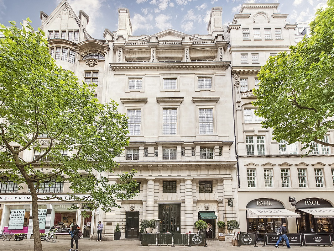 Stunning facade of period building in London CBRE Country Life