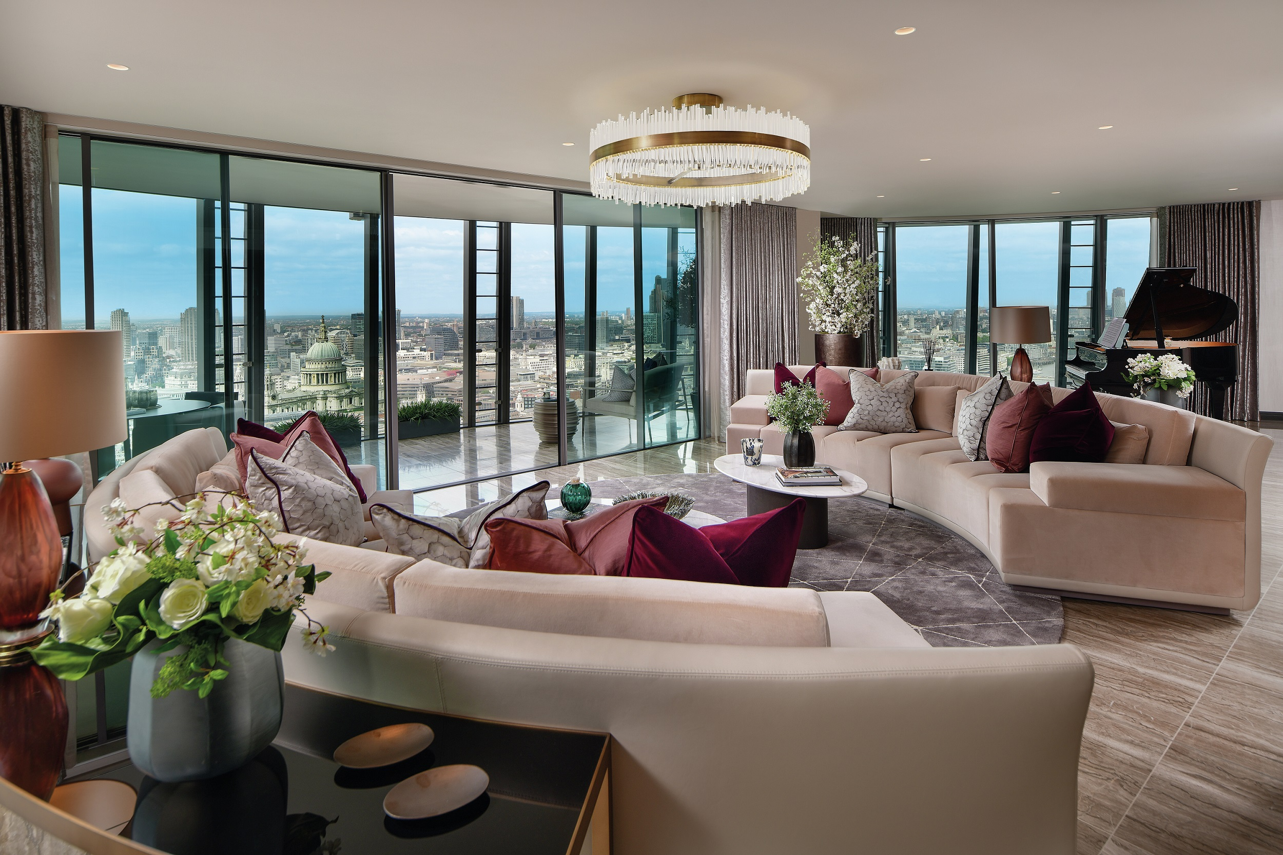 Luxury living room at One Blackfriars