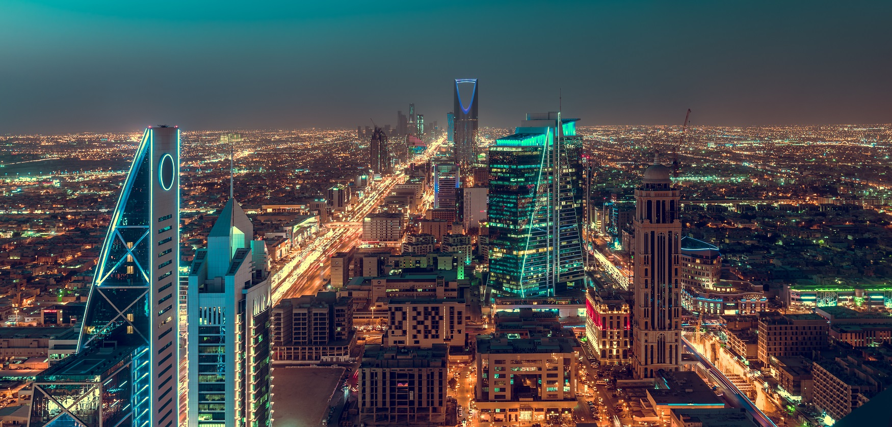 night view of Riyadh with all the lights