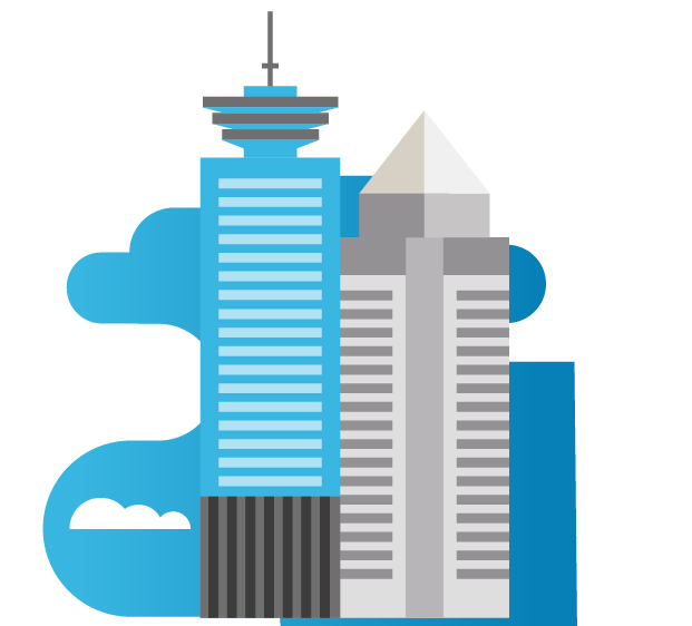 Blue logo of Vancouver