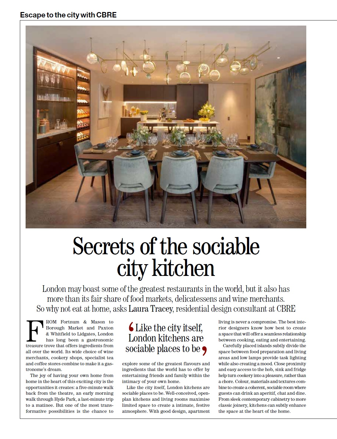 Article on London Kitchens