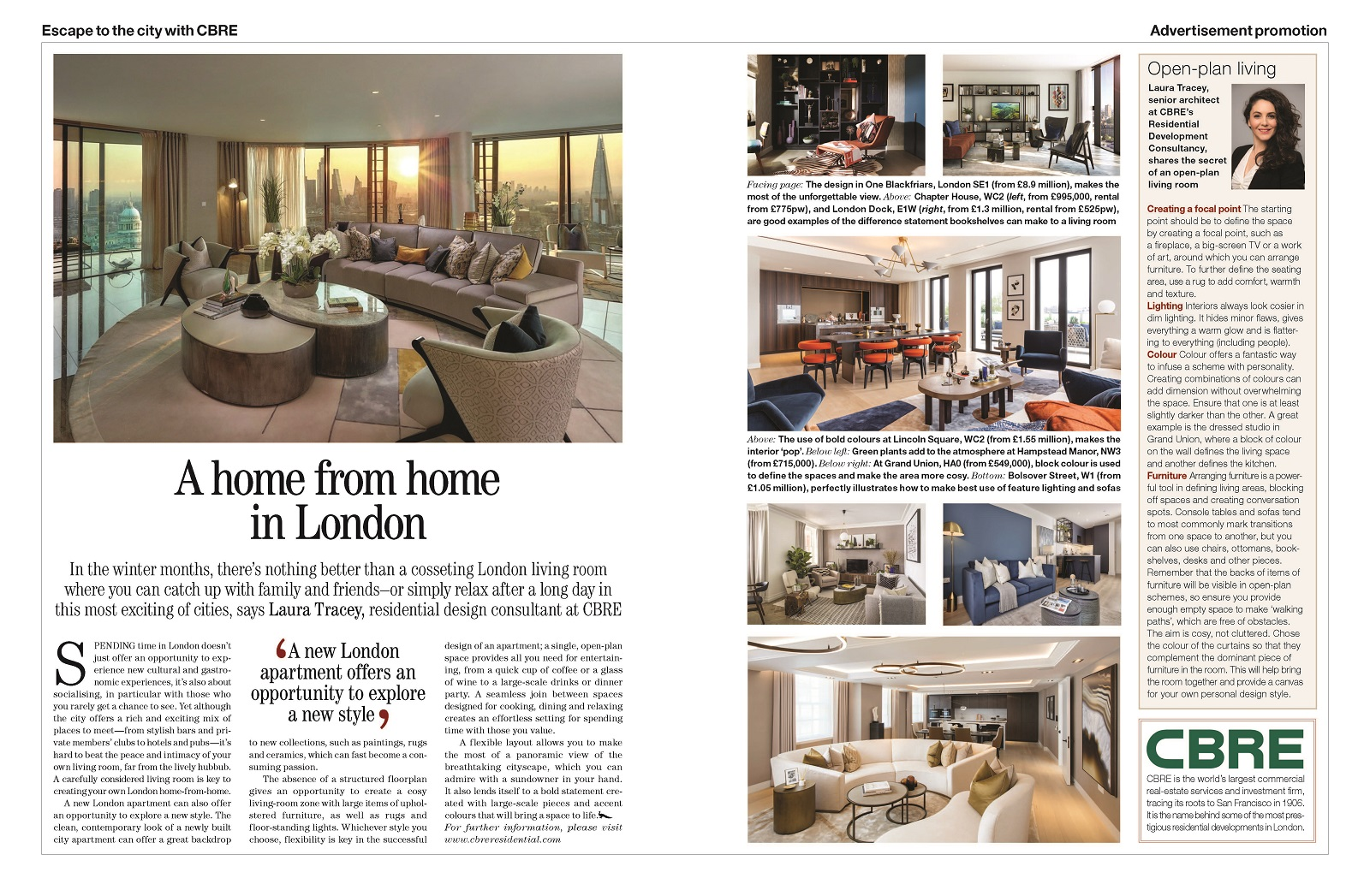 Country life article, a home from home